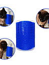 Katt Hund Borstar Plast Kammar Massage Husdjur Skötselprodukter Blå