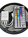 ZDM 5M Waterproof 300 x 2835 8mm RGB LED Strips Light Flexible and IR 44Key Remote Control   Linkable  Self-adhesive  Color-Changing