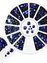 1 pcs Nagelsmycken Paljetter Crystal / Rhinestone Style / Strass / Kristall / Strass Stenar nagel konst manikyr Pedikyr Dagligen Strass / Elegant & Lyxig / Glitter och glans / Nail Smycken