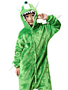 Barn Kigurumi-pyjamas Monster Ettögd Monster Onesie-pyjamas Flanell Grön Cosplay För Pojkar och flickor Pyjamas med djur Tecknad serie Festival / högtid Kostymer