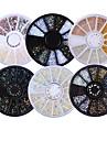 6 pcs Akrylfiber Nagelsmycken Pärlor Paljetter Till nagel konst manikyr Pedikyr Dagligen Glitters / Neon & Bright / Mode / Nail Smycken / Metall