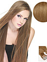 Tejpa-in Människohår förlängningar Rak Äkta hår Hårförlängningar av äkta hår Dam Ask Brun