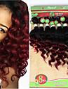 Brasilianskt hår Löst vågigt Stora vågor Obehandlad hår Nyans Nyans Hårförlängning av äkta hår Människohår förlängningar