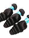 3 paket Brasilianskt hår Löst vågigt Obehandlad hår Human Hår vävar 8-14 tum Hårförlängning av äkta hår Människohår förlängningar