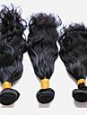 3 paket Peruanskt hår Naturligt vågigt Obehandlad hår Human Hår vävar 8-28 tum Hårförlängning av äkta hår Människohår förlängningar
