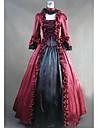 Rokoko Victoriansk 18th Century Klänningar Festklädsel Dam Spets Satin Kostym Röd Vintage Cosplay Party Bal Långärmad Golvlång Plusstorlekar Anpassad