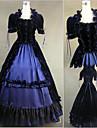 Vintage Gotiskt Victoriansk Medeltida kostymer 18th Century Klänningar Festklädsel Maskerad Dam Satin Kostym Vintage Cosplay Party Bal Kortärmad Golvlång Balklänning Plusstorlekar Anpassad