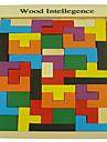Tetris Byggklossar Pussel Träpussel Trämodeller 1 pcs Utbilding Unisex Pojkar Flickor Leksaker Present