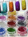 1set 17pcs Puder / Glitterpulver Elegant & Lyxig / Glitter och glans / Nail Glitter Nail Art Design