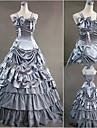 Gothic Lolita Klänningar Dam Flickor Japanska Cosplay-kostymer Silver Vintage Holk Golvlång / Gotisk Lolita