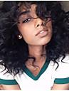 Äkta hår Halvnät utan lim Spetsfront Peruk stil Vågigt Peruk 130% Hårtäthet Naturlig hårlinje Afro-amerikansk peruk 100 % handbundet Dam Lång Äkta peruker med hätta