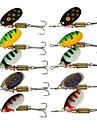 10 pcs Pimplar Simbete Accessoar Spinnfluga Lock förpackningar Metallbete Sjunker Bass Forell Gädda Sjöfiske Flugfiske Kastfiske Mässing Stål / Isfiske / Spinnfiske / Jiggfiske / Färskvatten Fiske
