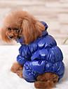 Hund Kappor Jumpsuits Jakke Vinter Hundkläder Håller värmen Svart Röd Mörkblå Kostym Ner Cotton Enfärgad Ledigt / vardag Håller värmen XS S M L XL XXL