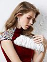 Dam Kristall / Strass / Krusad Satin Aftonväska Rhinestone Crystal Evening Bags Purpur / Brun / Röd
