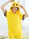 Kigurumi Pyjamas pika pika Trikå/Onesie Festival/högtid Pyjamas med djur halloween Gul Enfärgad Cotton Kigurumi För Unisex Halloween