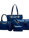 Dam Kohud bag set Väskor 5 st handväska Beige / Blå / Ljusbrunt
