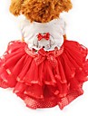 Katt Hund Klänningar Smoking Hundkläder Gul Grön Röd Kostym Husky Labrador alaskan malamute Chiffong Cotton Rosett Fest Ledigt / vardag Bröllop XS S M L XL XXL