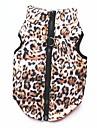 Katt Hund Kappor T-shirt Tröja Vinter Hundkläder Leopard Kostym Cotton Leopard Fest Ledigt / vardag Håller värmen XS S M L