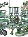 GUDI Byggklossar Militära block Byggklossfigurer 318 pcs Soldat / Krigare Militär Stridsvagn Jaktplan kompatibel Legoing Kamouflage GDS (Gör det själv) Unisex Pojkar Flickor Leksaker Present