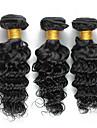 3 paket Brasilianskt hår Lockigt Stora vågor Curly Weave Äkta hår Human Hår vävar 8-26 tum Hårförlängning av äkta hår Heta Försäljning Människohår förlängningar
