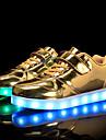 Flickor Komfort / Lysande skor PU Sneakers Lilla barn (4-7år) / Stora barn (7 år +) Promenad Karborreband / LED Guld / Silver / Rosa Vår / Höst / Gummi
