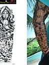 1/4/8 pcs Tatueringsklistermärken tillfälliga tatueringar Roser / Döskalle / Blomma Vattentät / Ogiftig / Stor storlek Body art