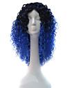 Syntetiska peruker Lockigt Minaj Stil Asymmetrisk frisyr Utan lock Peruk Svart Blå Syntetiskt hår Dam Naturlig hårlinje / Afro-amerikansk peruk Svart / Blå Peruk Mellan / Medium längd
