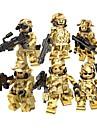 DILONG Byggklossar Militära block Byggklossfigurer 20-480 pcs Militär Soldier Krig II kompatibel Legoing Leksaker Present / Utbildningsleksak