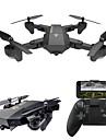 RC Drönare VISUO XS809W RTF 4 Kanaler 6 Axel 2.4G Med HD-kamera 0.3MP 480P Radiostyrd quadcopter Retur Med Enkel Knapptryckning / Huvudlös-läge / 360-Graders Flygning Radiostyrd Quadcopter / Kamera