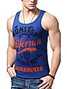 Men\'s Tank Top Graphic Letter Print Sleeveless Slim Tops Cotton Active White Black Blue / Sports / Summer