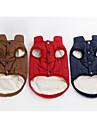 Hund Väst Vinter Hundkläder Röd Mörkblå Kaffe Kostym Terylen Enfärgad Håller värmen XS S M L XL XXL