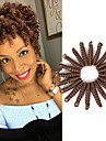 Toni Curl Pre-loop Virka Flätor Hårförlängningar av äkta hår Syntetiskt hår flätor Korta Hår till flätning 20 rötter / pack