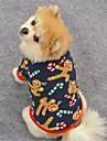 Katt Hund Kappor T-shirt Tröja Vinter Hundkläder Brun Mörkblå Kostym Polär Ull Ren Fest Ledigt / vardag Håller värmen XS S M L