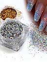 1st Paljetter / Glitterpulver Elegant & Lyxig / Glitter och glans / Nail Glitter Nail Art Design