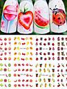 12 pcs Nail DIY Tools Klistermärken Vattenöverföringsdekaler nagel konst manikyr Pedikyr Mode Dagligen