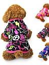 Katt Hund Kappor T-shirt Tröja Vinter Hundkläder Svart Fuchsia Blå Kostym Polär Ull Hjärta Fest Ledigt / vardag Håller värmen XS S M L