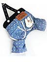 Hund Klänningar Hundkläder Blå Kostym Cotton Tecknat Fest Ledigt / vardag S M L