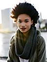 Hår till flätning Lockigt Afro Krulliga afroflätor Hårförlängningar av äkta hår 100% kanekalon hår Kanekalon 10 rötter / pack Hårflätor Dagligen