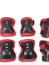 Skyddande utrustning / Knä-, armbågs- och handledsskydd för Skridskoåkning / Skateboarding / Inlines Repsäker / Anti-friktion / Stötsäker 6-pack Friluftskläder pvc