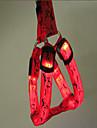 Hund Halsband Träningshalsband till hundar Justerbara Bärbar LED Lampor Färgblock Nylon Röd Ljusblå