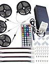 KWB Led Light Strip Kit Waterproof 20M(4*5M) 5050 10mm RGB 600 LEDs Strip Lights with 44Key IR Remote Controller Kit and 12V 10A EU/US/AU/UK Power Supply with A set Mounting Bracket