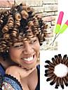 Hår till flätning Lockigt Bouncy Curl Virkad Pre-loop Virka Flätor Syntetiskt hår 20 rötter / pack 1pc / förpackning Hårflätor Nyans 100% kanekalon hår