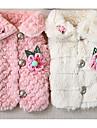 Hund Kappor Vinter Hundkläder Vit Rosa Kostym Syntetisk Blommig / Botanisk Ledigt / vardag XS S M L XL