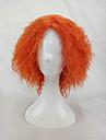 Syntetiska peruker Kostymperuker Afro Kinky Curly Sexigt Lockigt Afro Peruk Blond Korta Orange Syntetiskt hår Dam Blond hairjoy