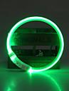 Hund Halsband LED Lampor Justerbara / Infällbar Laddningsbart Enfärgad TPU Grön Blå Rosa