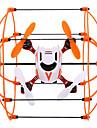 Drönare NH-002 4ch 6 Axel Retur Med Enkel Knapptryckning Radiostyrd Quadcopter USB kabel Blad Användarmanual