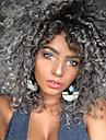 Syntetiska peruker Lockigt Kinky Curly Sexigt Lockigt Lockigt Peruk Mellan Svart / Grå Syntetiskt hår Dam Värmetåligt Ombre-hår Grå