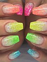 12st / 1set Glitter Till 12 färger nagel konst manikyr Pedikyr Elegant & Lyxig / Glitter och glans / Nail Glitter