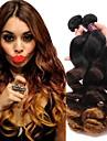 1 Bundle Brasilianskt hår Löst vågigt Obehandlad hår Remy-hår Andra Nyans 12-24 tum Hårförlängning av äkta hår Klassisk Människohår förlängningar / 10A
