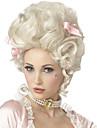 Syntetiska peruker / Kostymperuker Lockigt Kardashian Stil Utan lock Peruk Vit Vit Syntetiskt hår Marie Antoinette Dam Vit Peruk Mellan StrongBeauty